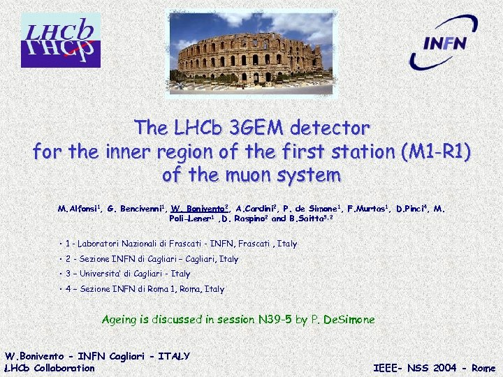 The LHCb 3 GEM detector for the inner region of the first station (M