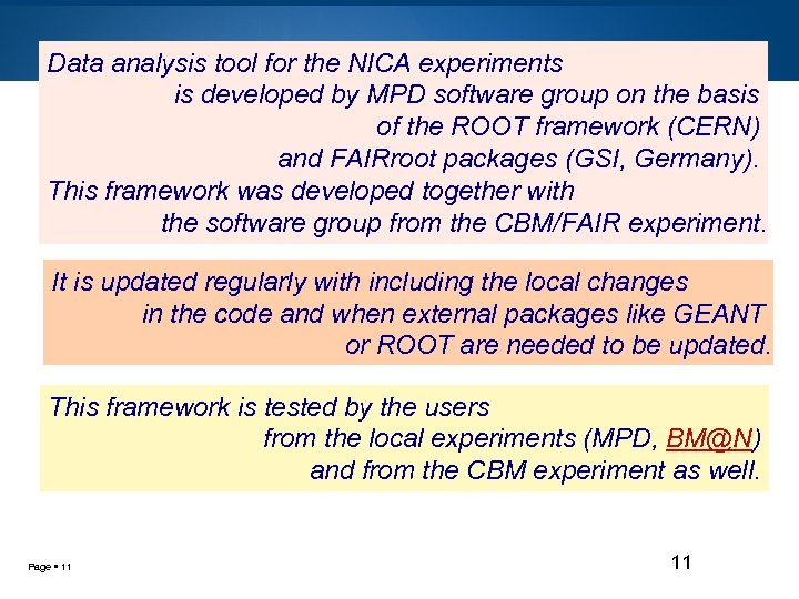 Data analysis tool for the NICA experiments is developed by MPD software group on