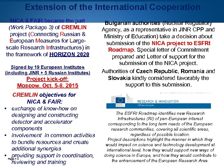 Extension of the International Cooperation NICA & FAIR became the part (Work Package 3)