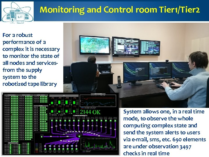 Monitoring and Control room Tier 1/Tier 2 For a robust performance of a complex
