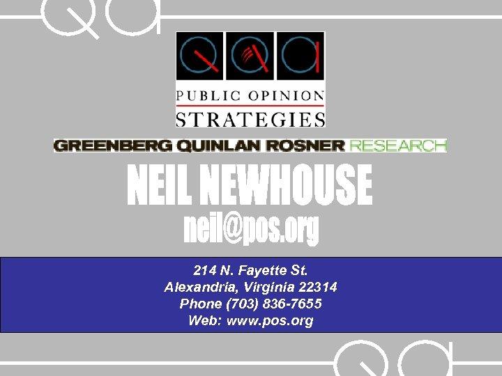 214 N. Fayette St. Alexandria, Virginia 22314 Phone (703) 836 -7655 Web: www. pos.