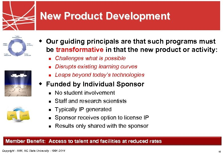 New Product Development w Our guiding principals are that such programs must be transformative