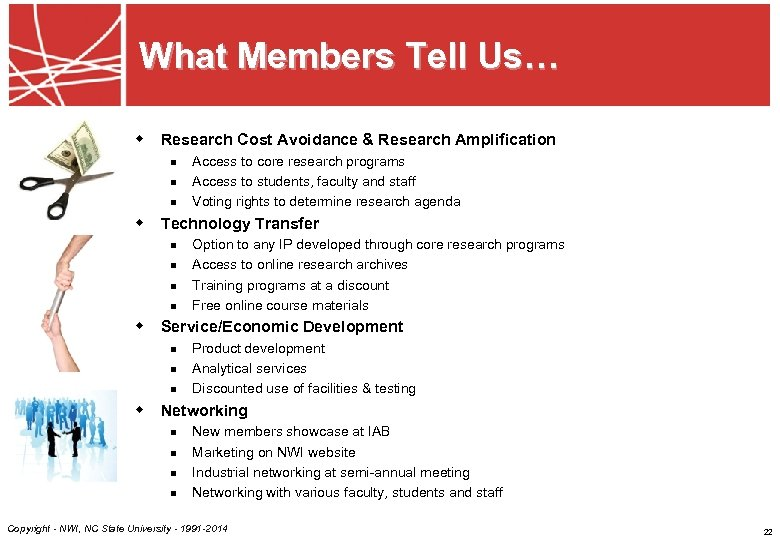 What Members Tell Us… w Research Cost Avoidance & Research Amplification n Access to