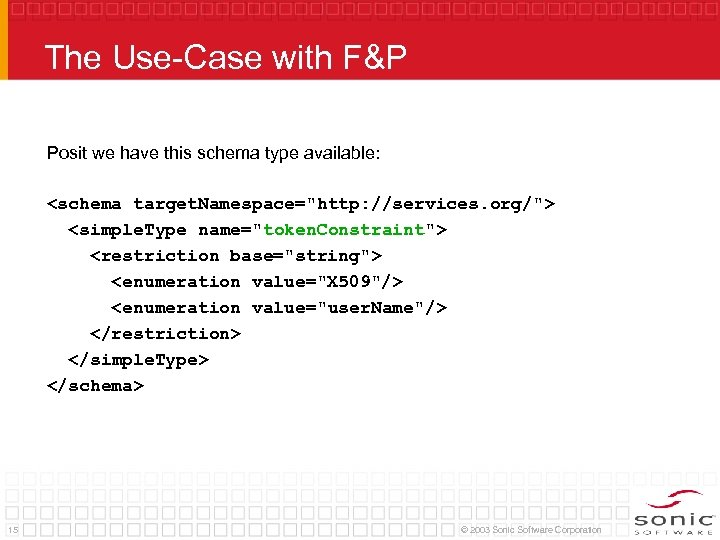 The Use-Case with F&P Posit we have this schema type available: <schema target. Namespace=