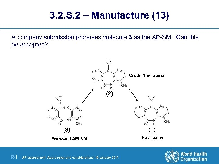 3. 2. S. 2 – Manufacture (13) A company submission proposes molecule 3 as