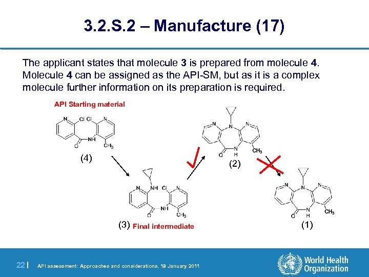 3. 2. S. 2 – Manufacture (17) The applicant states that molecule 3 is