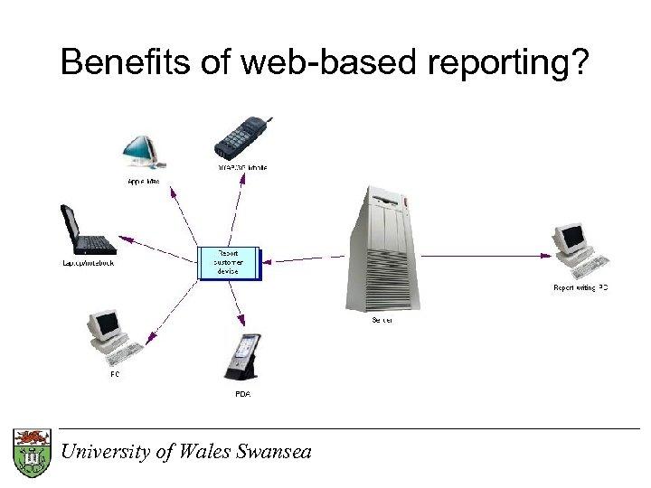 Benefits of web-based reporting? University of Wales Swansea