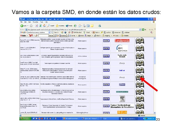 Vamos a la carpeta SMD, en donde están los datos crudos: 23