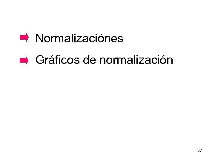 Normalizaciónes Gráficos de normalización 57