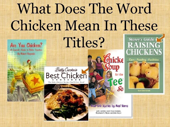 What Does The Word Chicken Mean In These Titles?