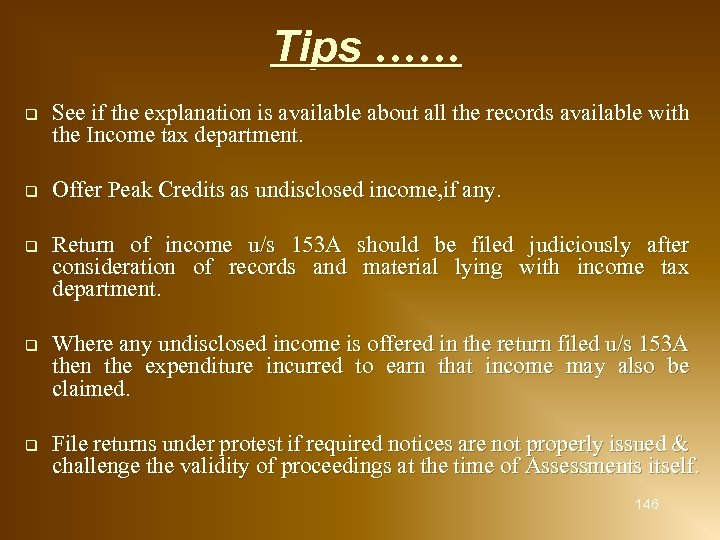 Tips …… q See if the explanation is available about all the records available