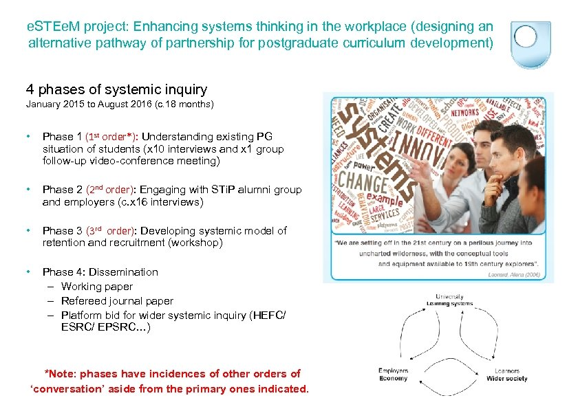 e. STEe. M project: Enhancing systems thinking in the workplace (designing an alternative pathway