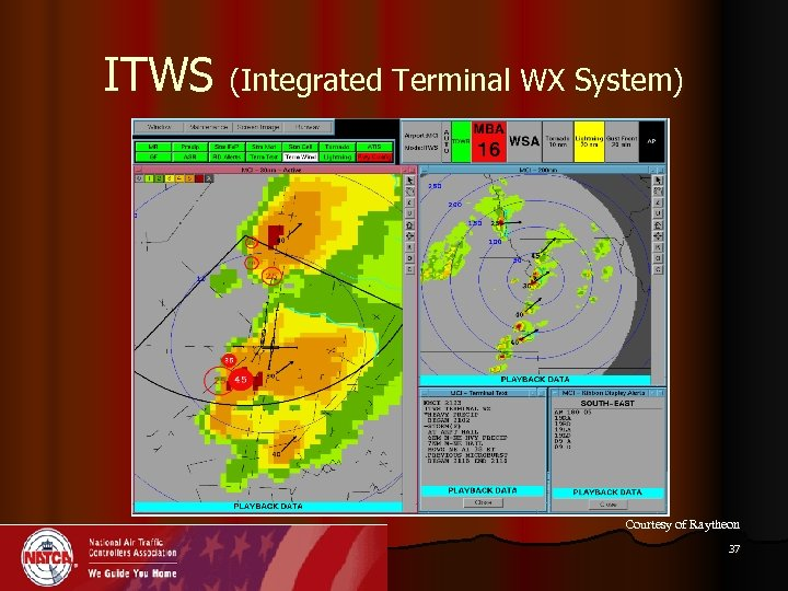 ITWS (Integrated Terminal WX System) Courtesy of Raytheon 37
