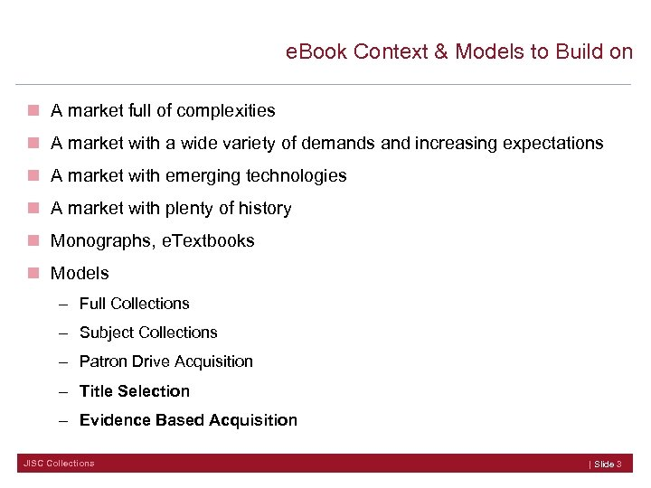e. Book Context & Models to Build on n A market full of complexities