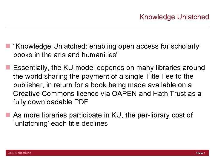 """Knowledge Unlatched n """"Knowledge Unlatched: enabling open access for scholarly books in the arts"""