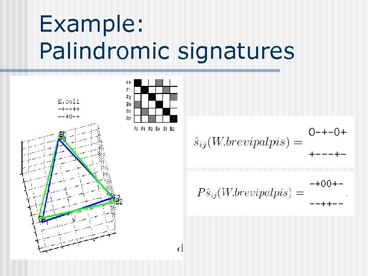 Example: Palindromic signatures