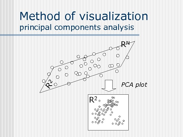 Method of visualization principal components analysis RN R 2 PCA plot R 2