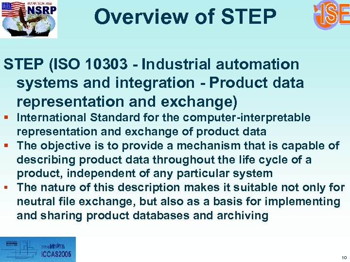 Overview of STEP (ISO 10303 - Industrial automation systems and integration - Product data