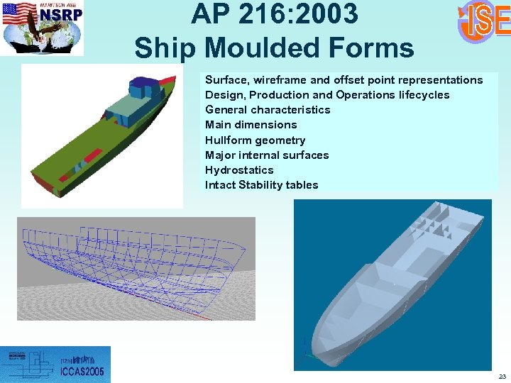 AP 216: 2003 Ship Moulded Forms Surface, wireframe and offset point representations Design, Production