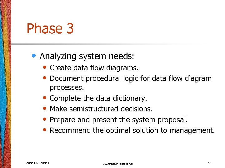 Phase 3 • Analyzing system needs: • Create data flow diagrams. • Document procedural