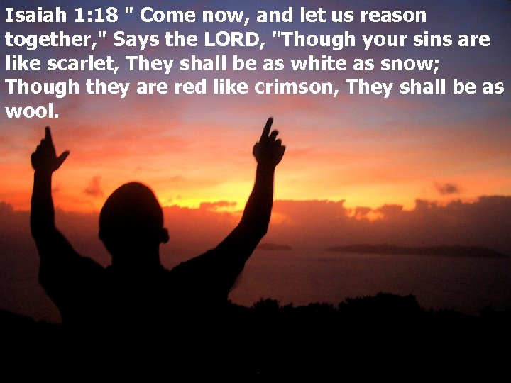 Isaiah 1: 18