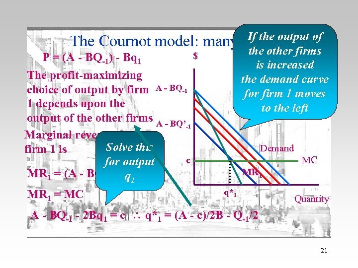 If the 2 The Cournot model: many firms output of P = (A -