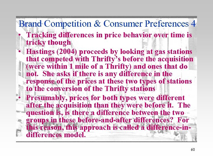 Brand Competition & Consumer Preferences 4 • Tracking differences in price behavior over time