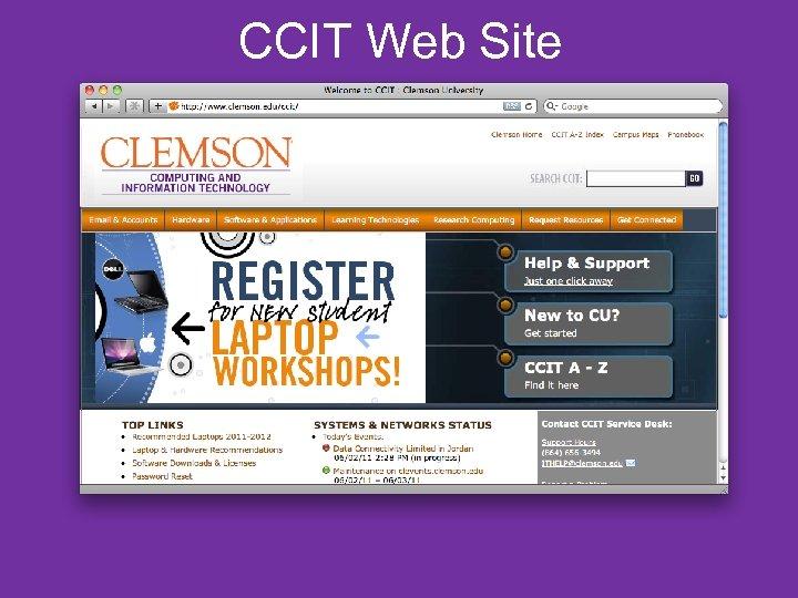 CCIT Web Site