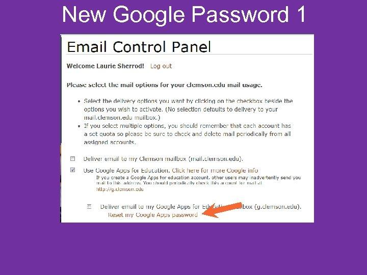New Google Password 1