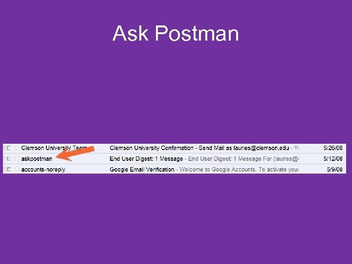 Ask Postman