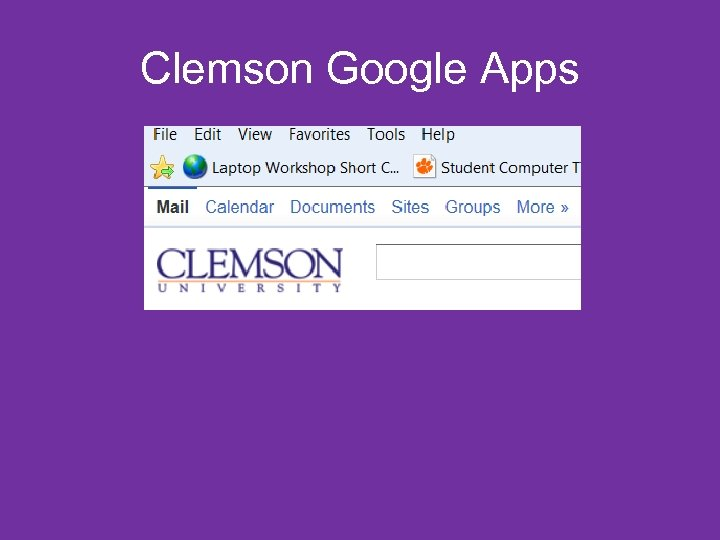 Clemson Google Apps