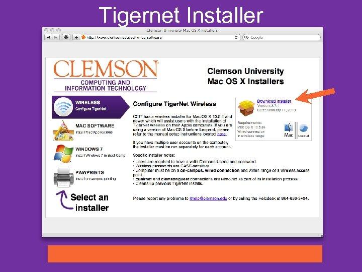 Tigernet Installer