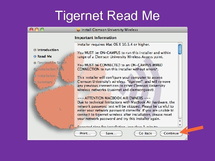 Tigernet Read Me