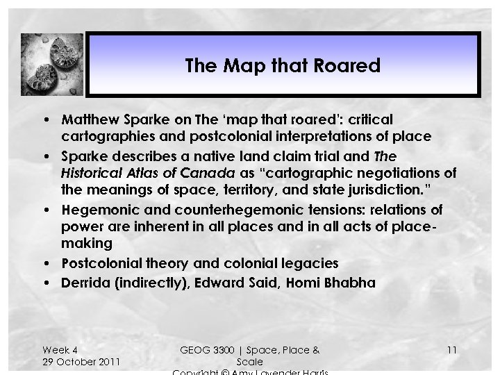 The Map that Roared • Matthew Sparke on The 'map that roared': critical cartographies