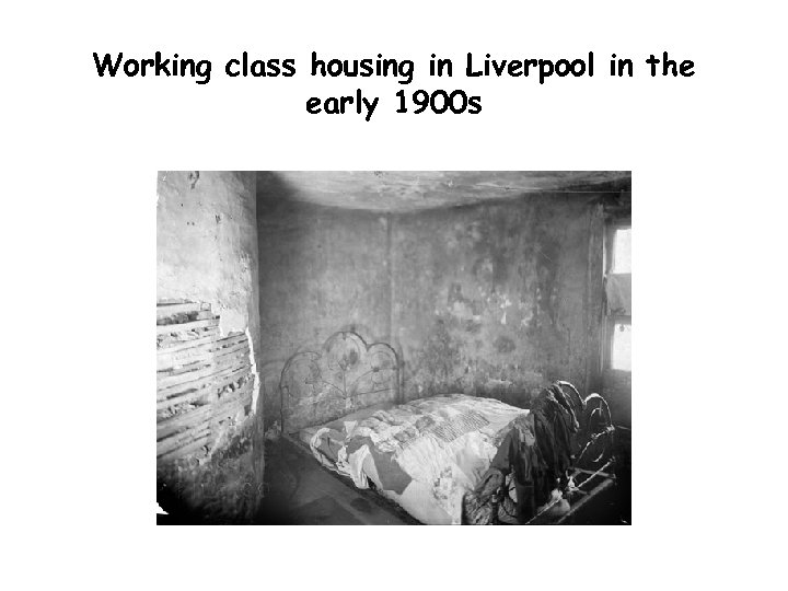 Working class housing in Liverpool in the early 1900 s