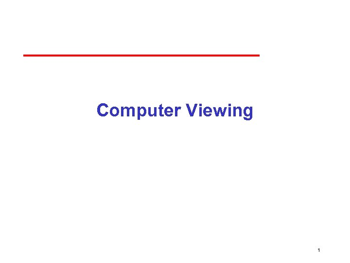 Computer Viewing 1