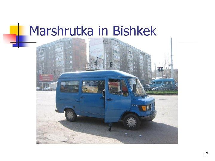 Marshrutka in Bishkek 13