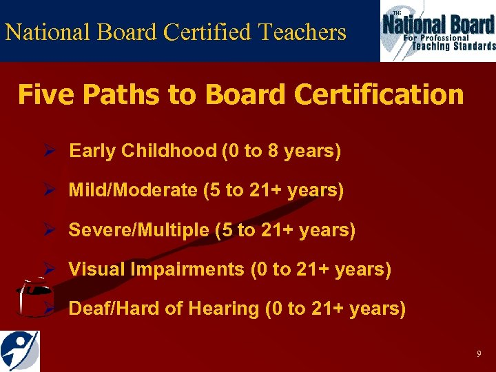 National Board Certified Teachers Five Paths to Board Certification Ø Early Childhood (0 to