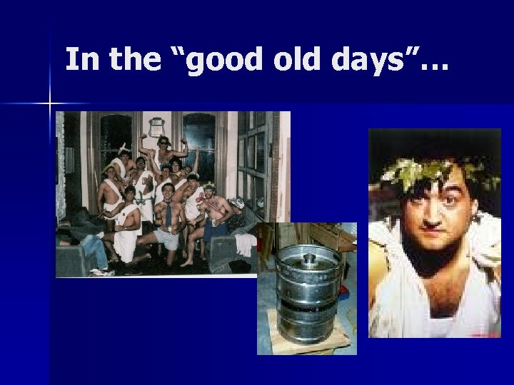 """In the """"good old days""""…"""