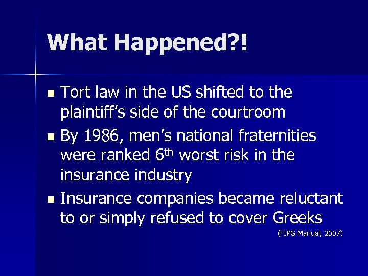 What Happened? ! Tort law in the US shifted to the plaintiff's side of