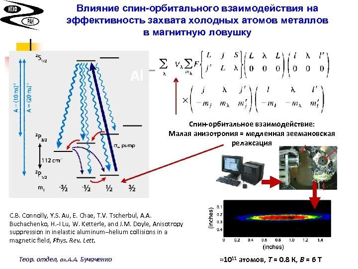 Влияние спин-орбитального взаимодействия на эффективность захвата холодных атомов металлов в магнитную ловушку Al Спин-орбитальное