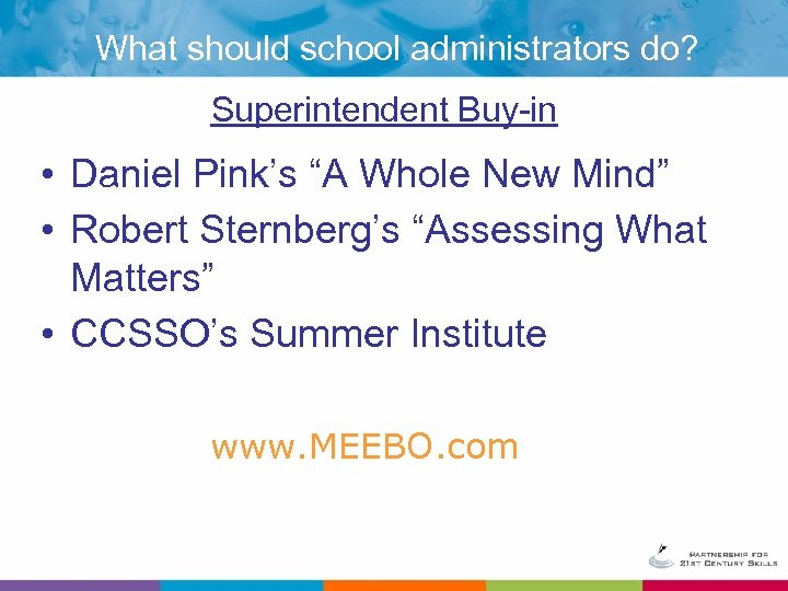 """What should school administrators do? Superintendent Buy-in • Daniel Pink's """"A Whole New Mind"""""""