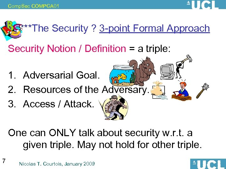 Comp. Sec COMPGA 01 ****The Security ? 3 -point Formal Approach Security Notion /