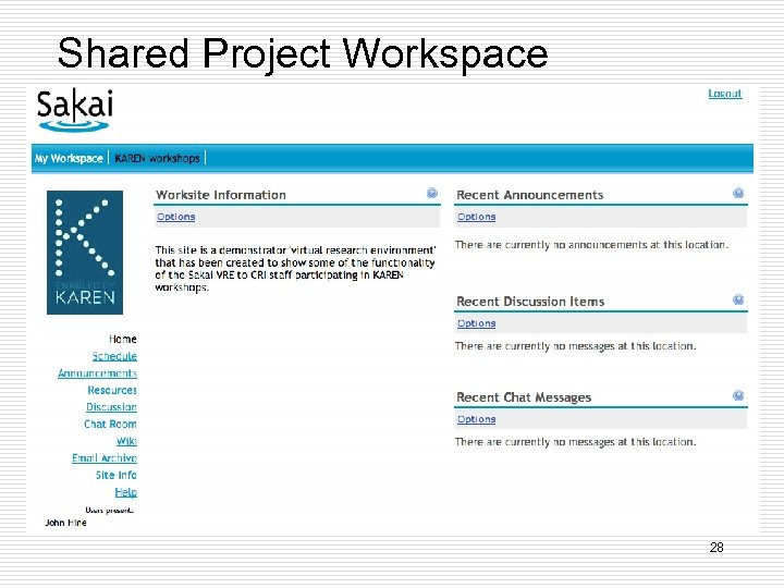 Shared Project Workspace 28