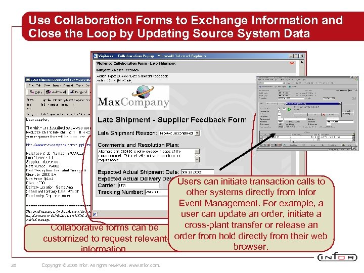 Use Collaboration Forms to Exchange Information and Close the Loop by Updating Source System