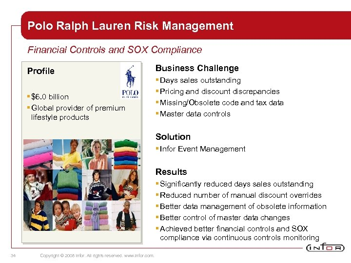 Polo Ralph Lauren Risk Management Financial Controls and SOX Compliance Profile § $6. 0