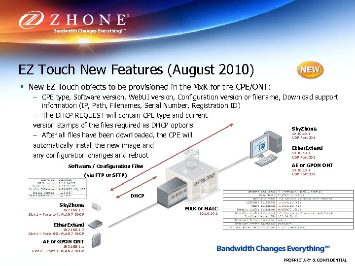 EZ Touch New Features (August 2010) § New EZ Touch objects to be provisioned