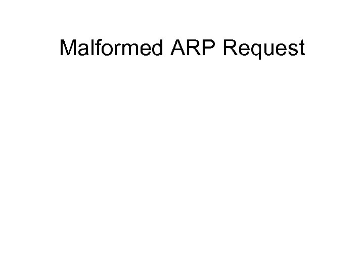 Malformed ARP Request