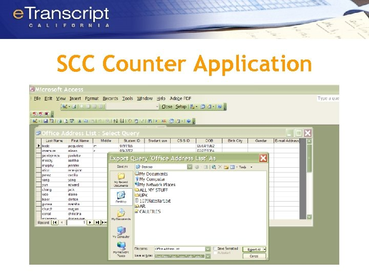 SCC Counter Application