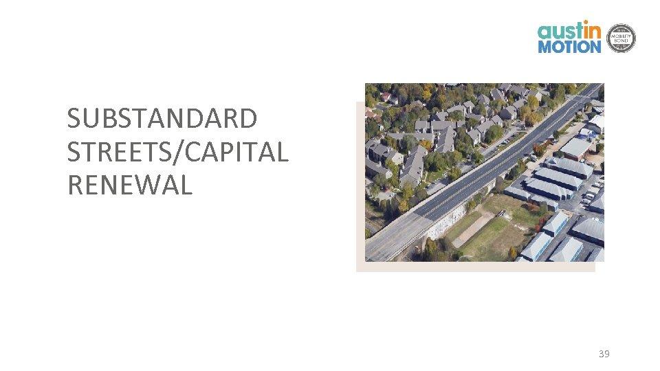 SUBSTANDARD STREETS/CAPITAL RENEWAL 39